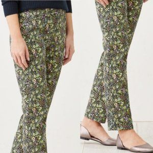 J JILL Live In Chino Colorful Floral Cropped Pants